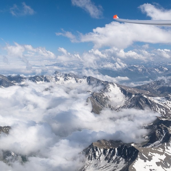 Unpowered flight over the French Alps
