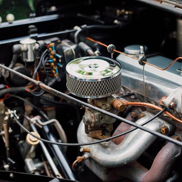 Old automobile engine or vintage