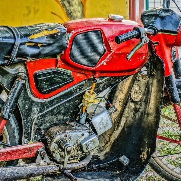 old timer motorbike kreidler florett in hdr