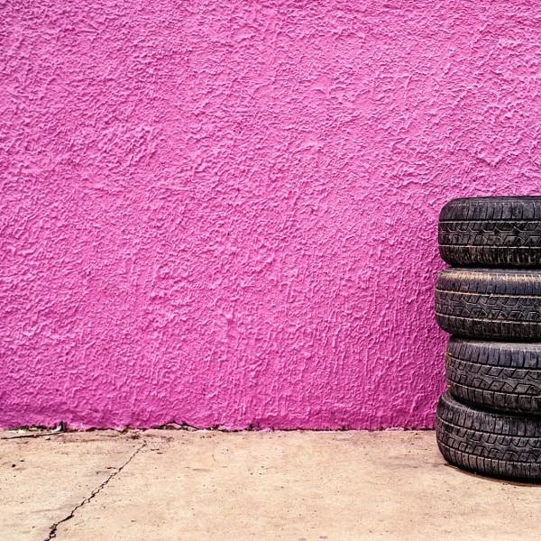 Car tire shop background
