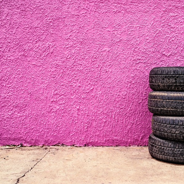 Car tire shop background