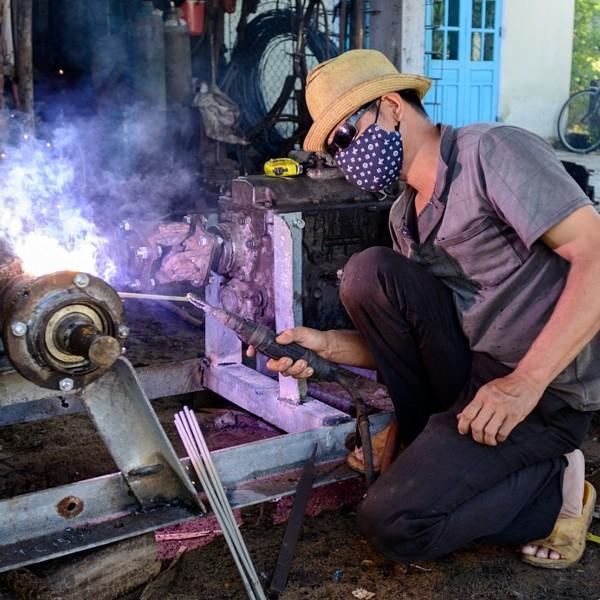 Electric Welder in small workshop