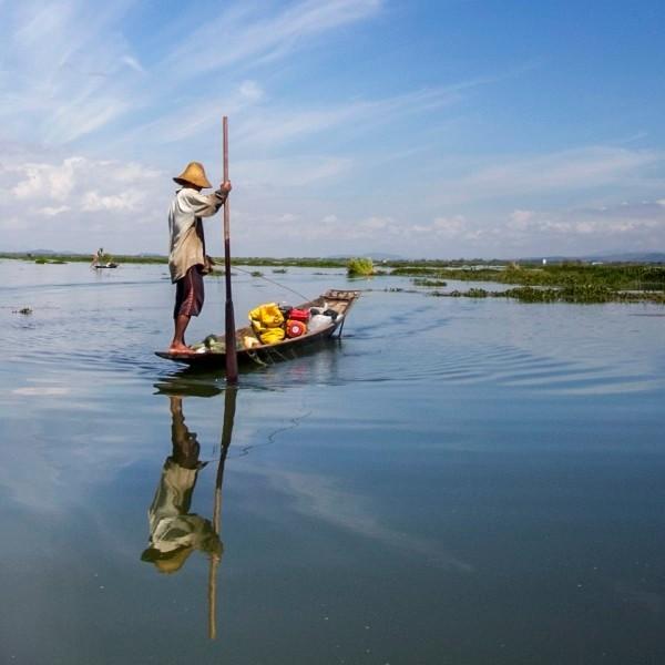 Fisherman At Noon