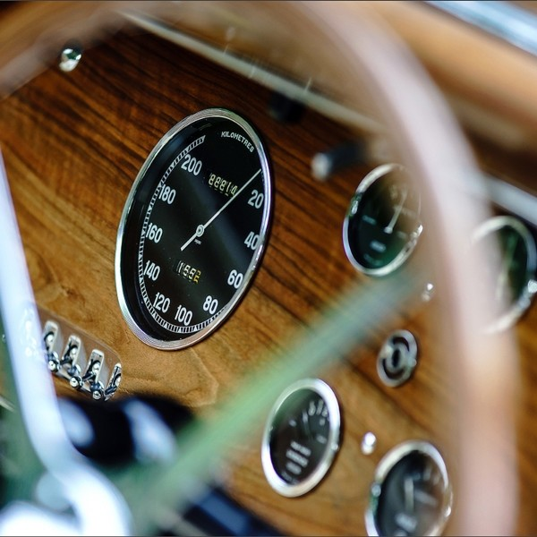 Beautiful retro car. Elegance and style of first part of XX cen