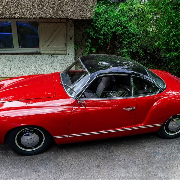Beautiful retro car renovated with love