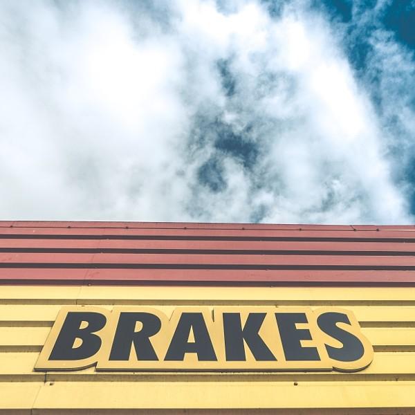 Brakes Sign At Auto Repair Shop