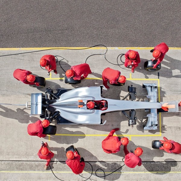 Racing team working at pit stop - Used  Engines in Fort Worth