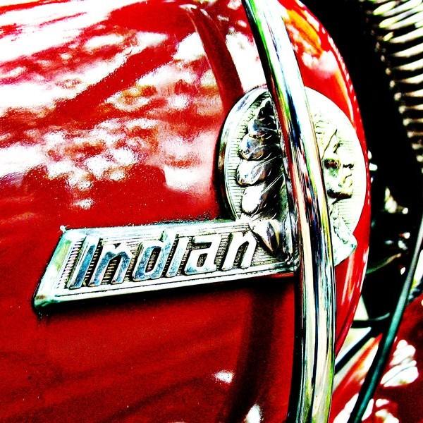 Indian motorcycle tank badge