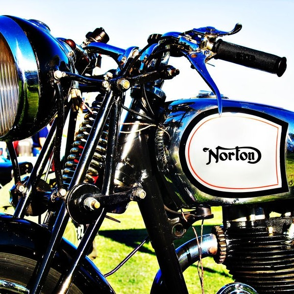 Norton motorcycle handlebar and tank